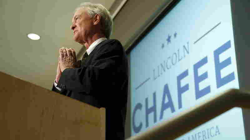 Former Rhode Island Gov. Lincoln Chafee announced he will seek the Democratic nomination to be U.S. president during an address to the George Mason University School of Policy, Government, and International Affairs at their campus in Arlington, Va., Wednesday.