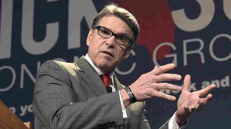 Former Texas Gov. Rick Perry addresses the Rick Scott's Economic Growth Summit in Lake Buena Vista, Fla., on Tuesday. Perry announces his 2016 run for the Republican presidential nomination today.