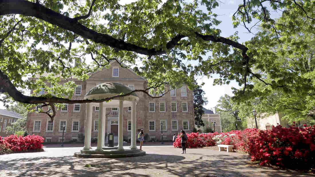 The Old Well on campus at The University of North Carolina in Chapel Hill, N.C. Reports from the school and the NCAA say UNC-Chapel Hill faculty and staff oversaw a student-athlete grade-inflation scheme that lasted almost twenty years.