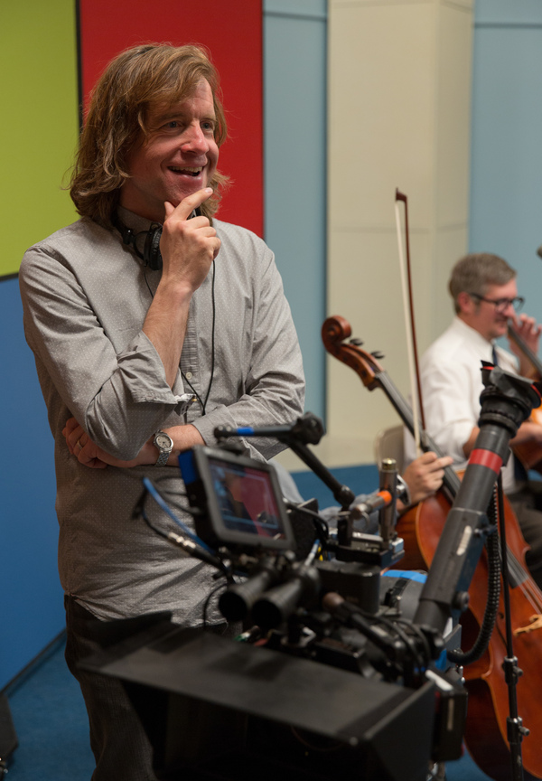 Director Bill Pohlad on the set of Love & Mercy.