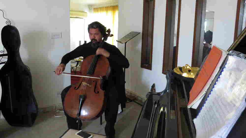Amid Violence In Baghdad, A Musician Creates A One-Man Vigil