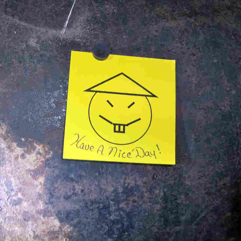 This photo provided by the New York governor's office shows the taunting note left by two escapees.