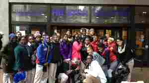 Students from a Harlem Children's Zone school visit Hunter College in New York. College visits are one way schools encourage students to attend college after graduation; now, a growing number of schools are working to help students succeed in college as well.