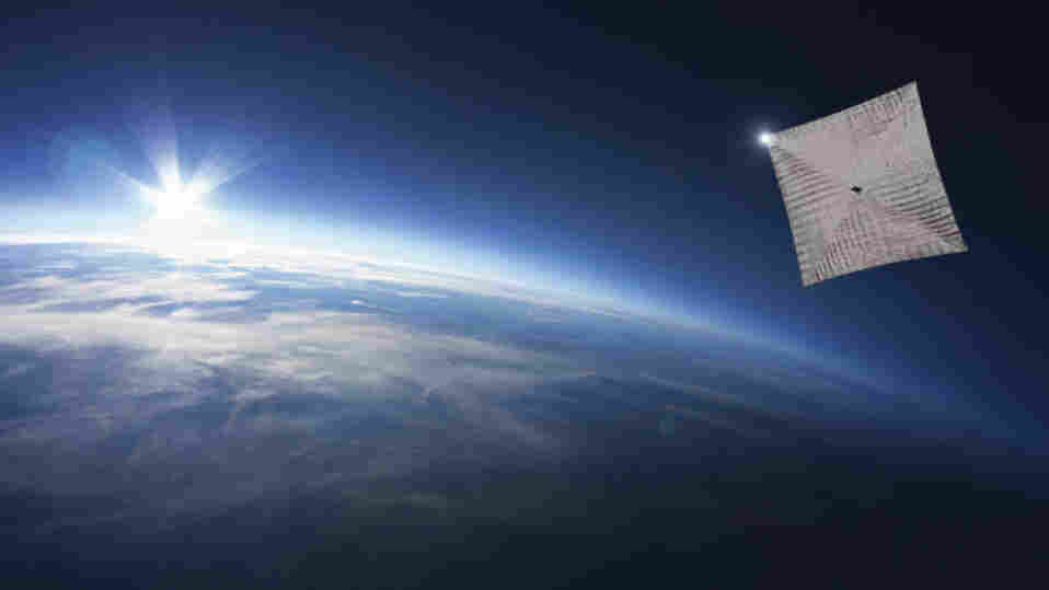 The new spacecraft, called LightSail, is orbiting Earth. Future versions could travel to the moon and beyond.