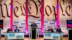 Intelligence Squared U.S. debate stage.