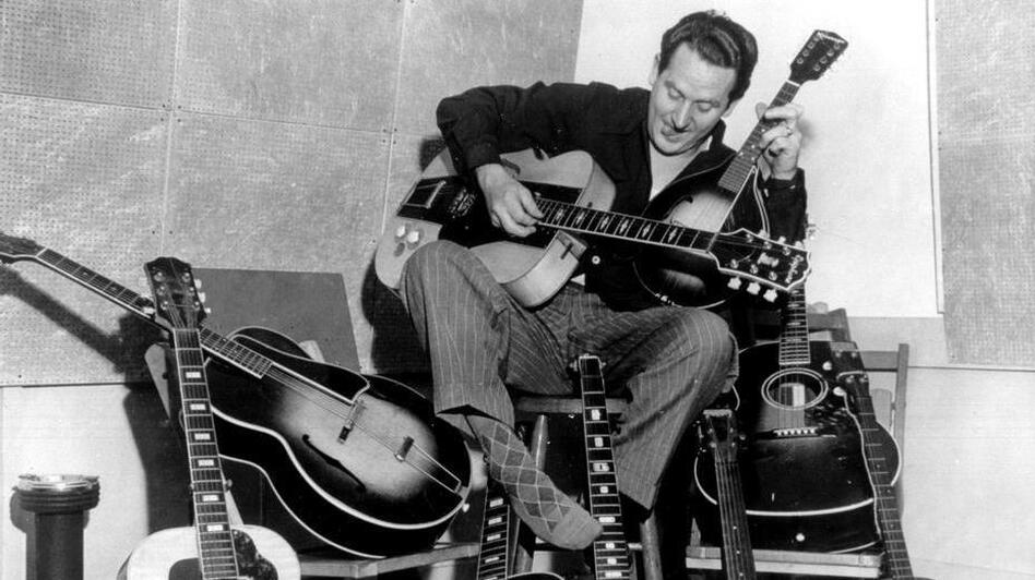 Les Paul's career as a guitarist and innovator led him to play jazz, pop and country with other legendary musicians for decades. (Courtesy of the Les Paul Foundation )
