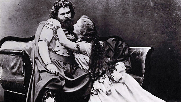Ludwig Schnorr von Carolsfeld and his wife Malwina were Wagner's original Tristan and Isolde in 1865. (Wikimedia Commons)