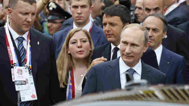 Russian President Vladimir Putin met Wednesday with Italian officials and Pope Francis, as the U.S. sought to encourage the Vatican to join the West in condemning Moscow's actions in Ukraine.