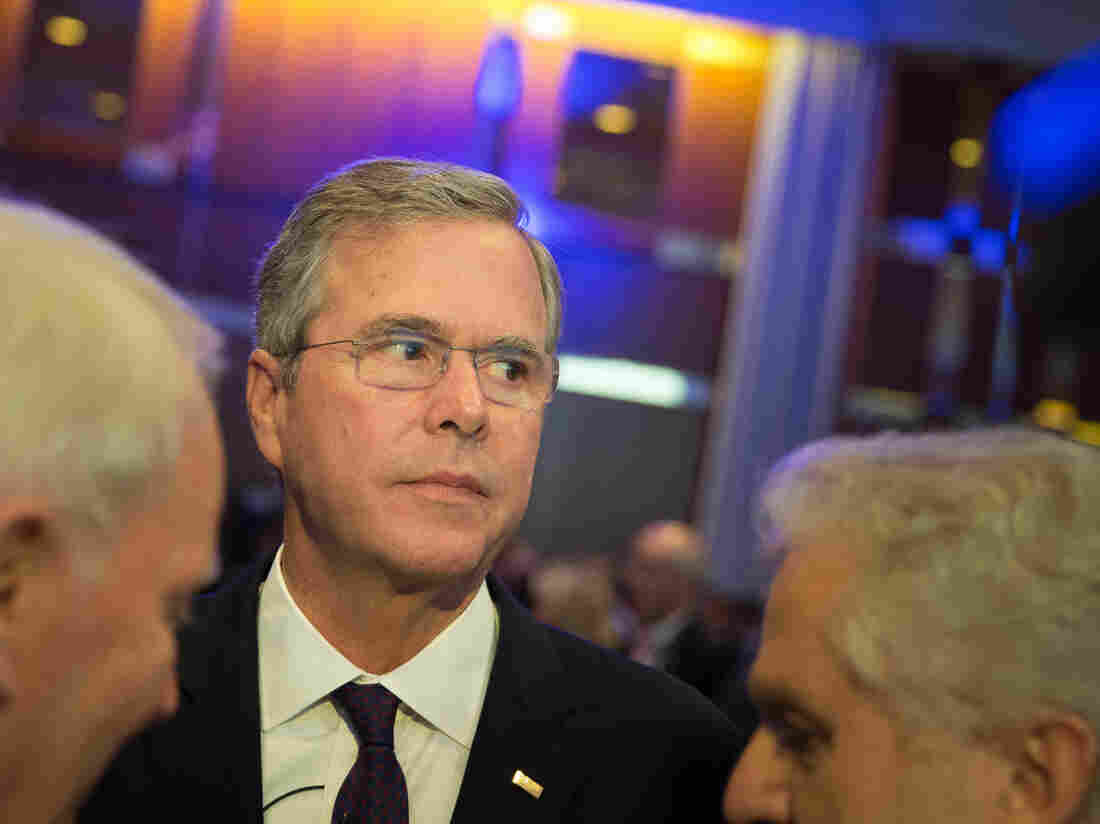 Former Florida Gov. and possible Republican presidential candidate Jeb Bush attends the CDU Economics Conference of the Economic Council in Berlin on Tuesday.