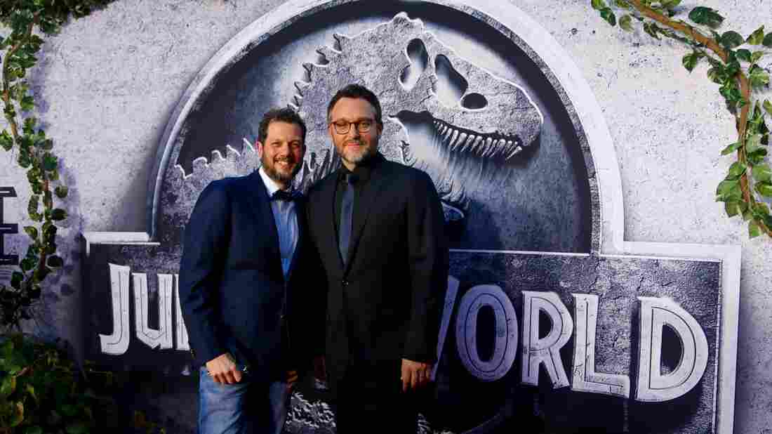 Michael Giacchino (left), pictured with director Colin Trevorrow, composed the music for this summer's Jurassic World, the latest score in a prolific, blockbuster career.