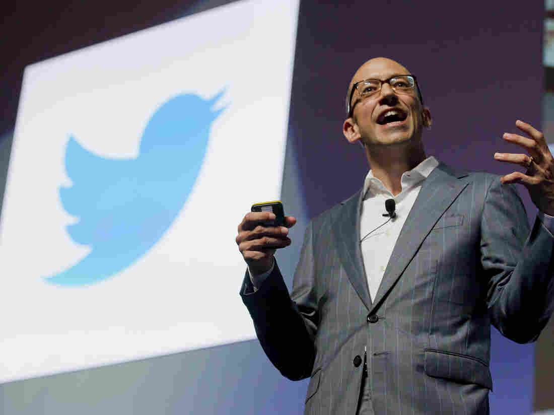 Twitter's Chief Executive Officer Dick Costolo gives a speech in 2012 in Cannes, France. The social media company says Costolo will step down as CEO effective July 1.