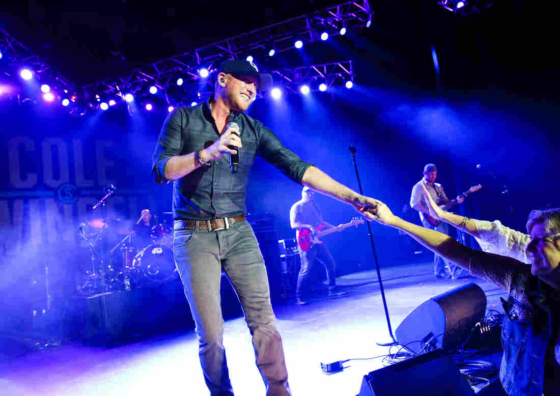 Cole Swindell performs during the New Faces of Country at the 2015 Country Radio Seminar in Nashville, Tenn.