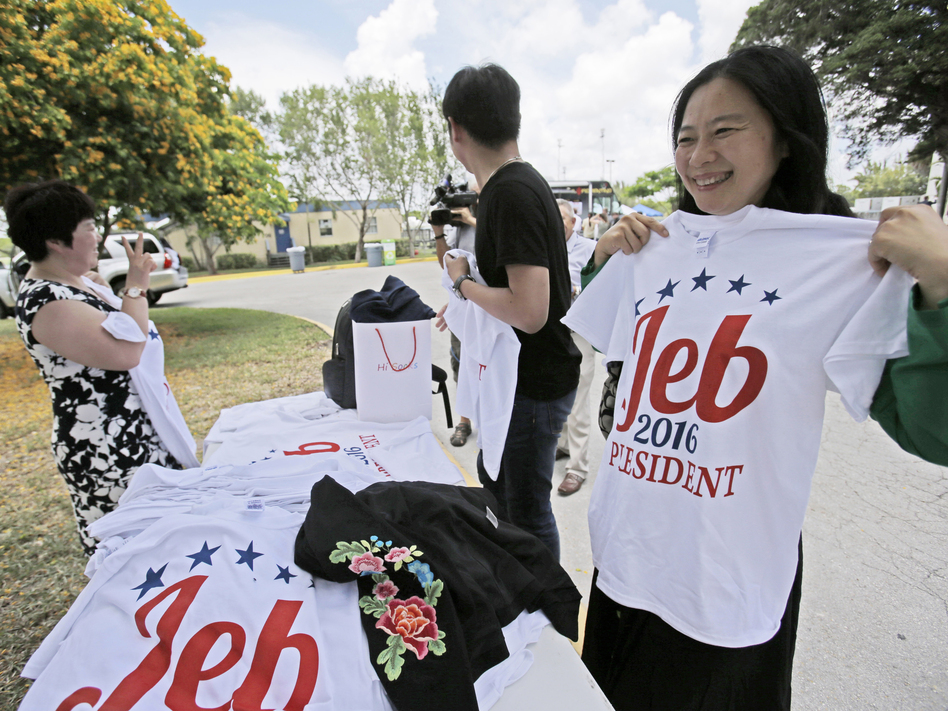 """After nearly seven months of """"actively exploring"""" a run for president, former Florida Gov. Jeb Bush officially launched his campaign on Monday in Miami. (Wilfredo Lee/Associated Press)"""