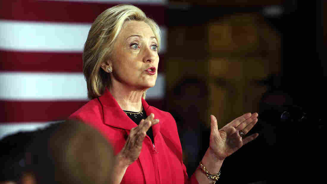 After a campaign event in New Hampshire on Monday, Hillary Clinton held her first press conference since becoming an official candidate for president.