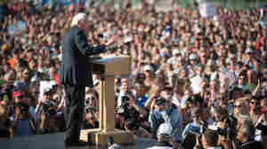 Bernie Sanders 'Stunned' By Large Crowds Showing Up For Him
