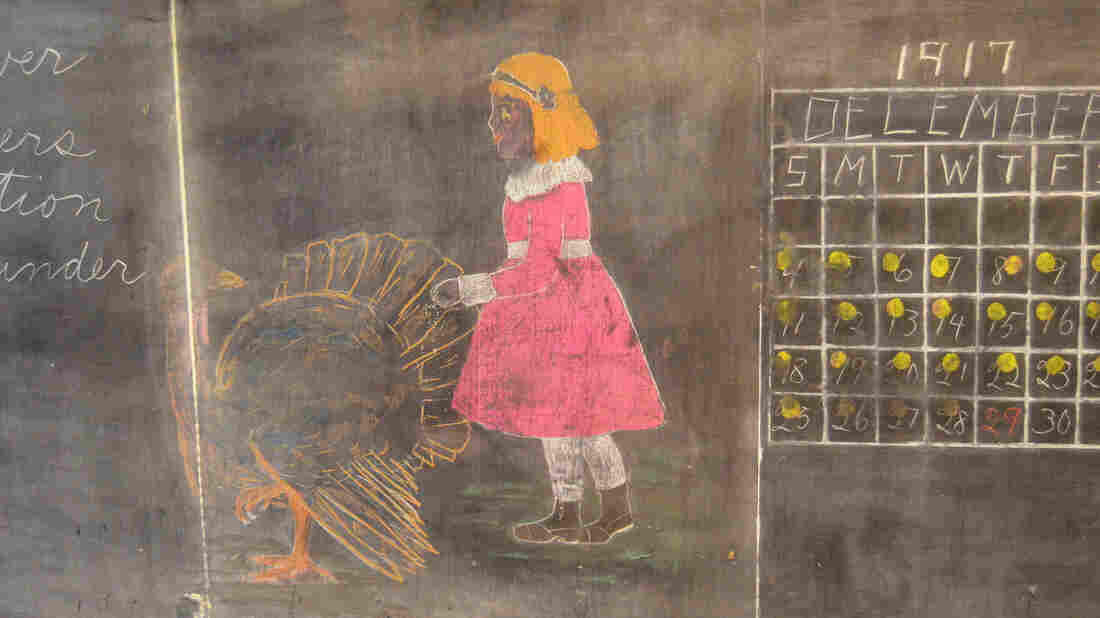 School Scrambles To Preserve Newly Discovered Chalkboards