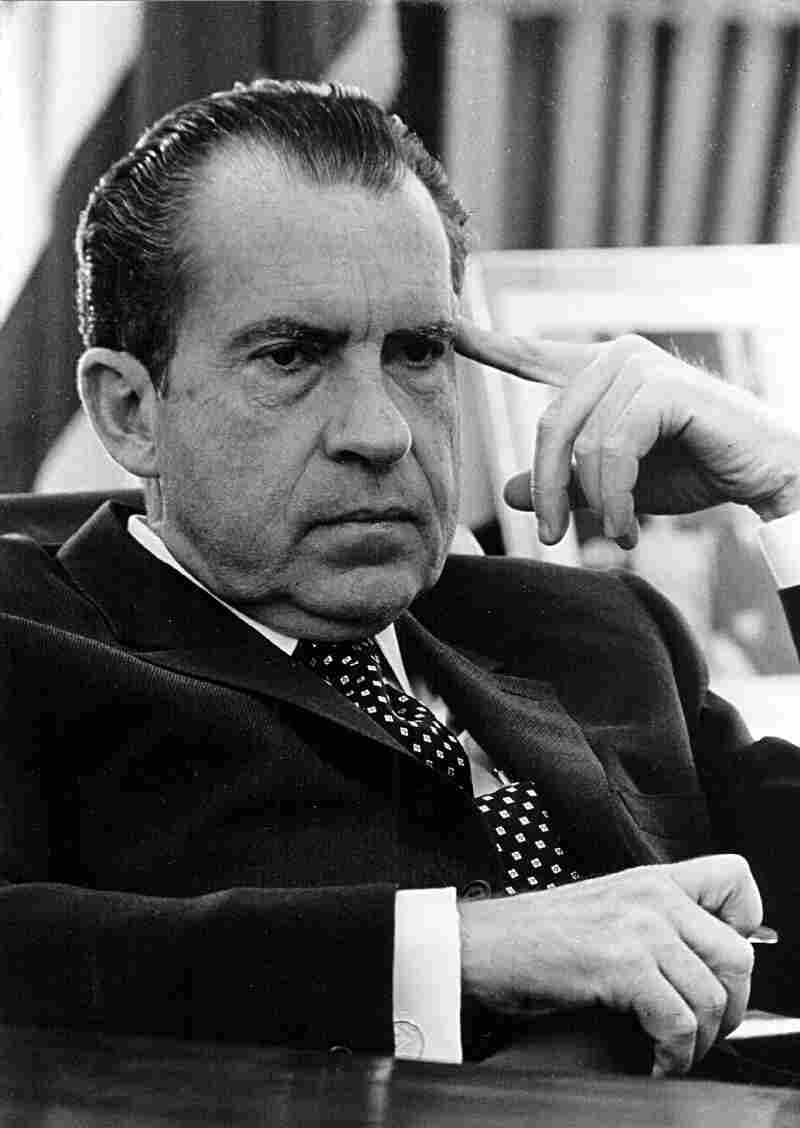 In his new book One Man Against the World, Tim Weiner explores some of the questions surrounding the presidency of Richard Nixon, pictured above in the Oval Office on Feb. 19, 1970.