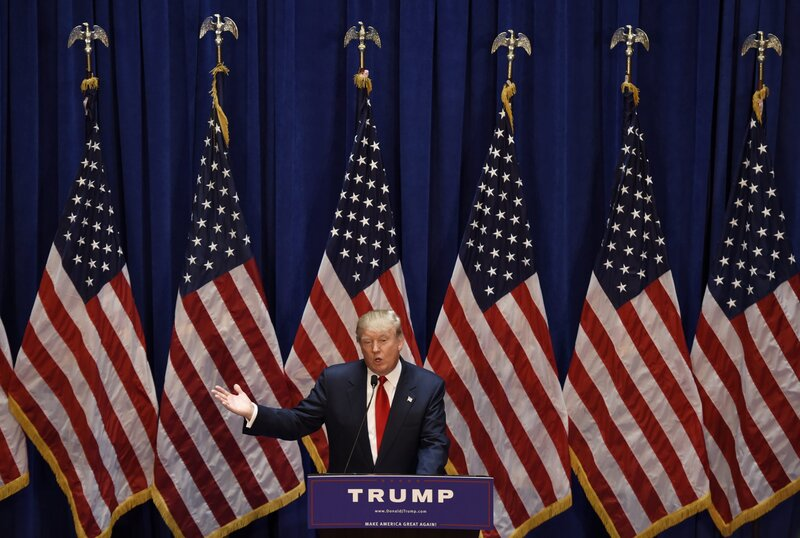 The Best Moments From Donald Trumps Announcement S Ch Its All Politics Npr