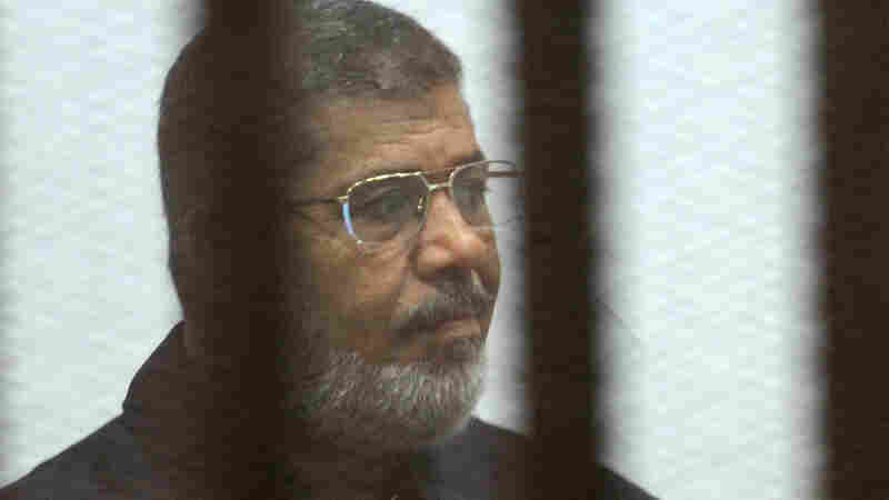 Former Egyptian President Mohammed Morsi can appeal his death sentence. He's seen here in the defendants' cage earlier this week, in a criminal court on the outskirts of Cairo.
