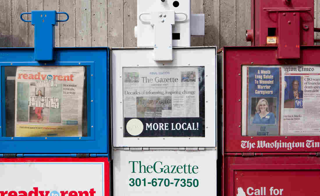 The Montgomery and Prince George's County Gazettes in Maryland were two locally focused papers that have shut down.