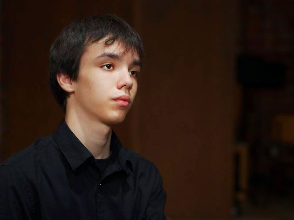 Seventeen-year-old Adam Balogh, from Hungary, is in the Cliburn Junior Competition. (Van Cliburn Foundation. )