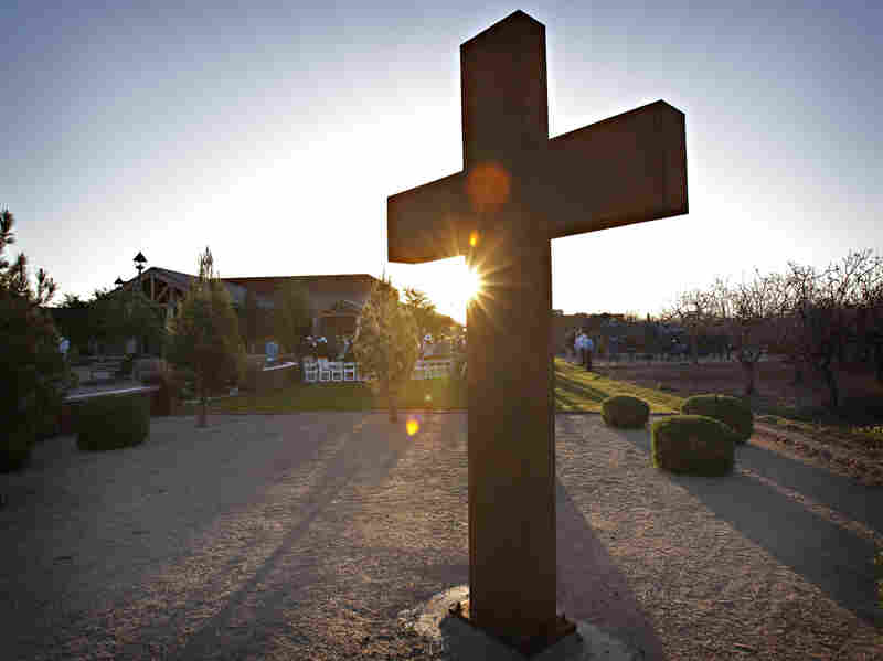 People gather at a church in Gilbert, Ariz., for an Easter sunrise service in 2010. The town passed a law to regulate signs a church in town was temporarily posting to provide event directions, but the Supreme Court on Thursday declared those rules unconstitutional.