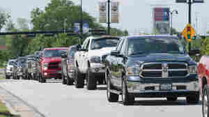 Ram Trucks parade near AT&T Stadium in April. The EPA and Department of Transportation has proposed stricter emissions guidelines for medium and heavy-duty trucks.