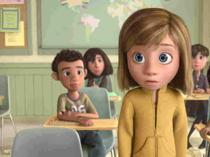 Riley is on her own in Inside Out.