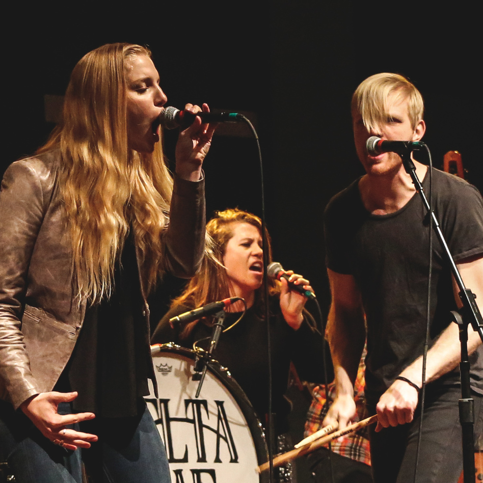 Delta Rae, seen here performing live at WXPN in Philadelphia, wrote a song in reaction to Wednesday's mass shooting in Charleston, South Carolina.