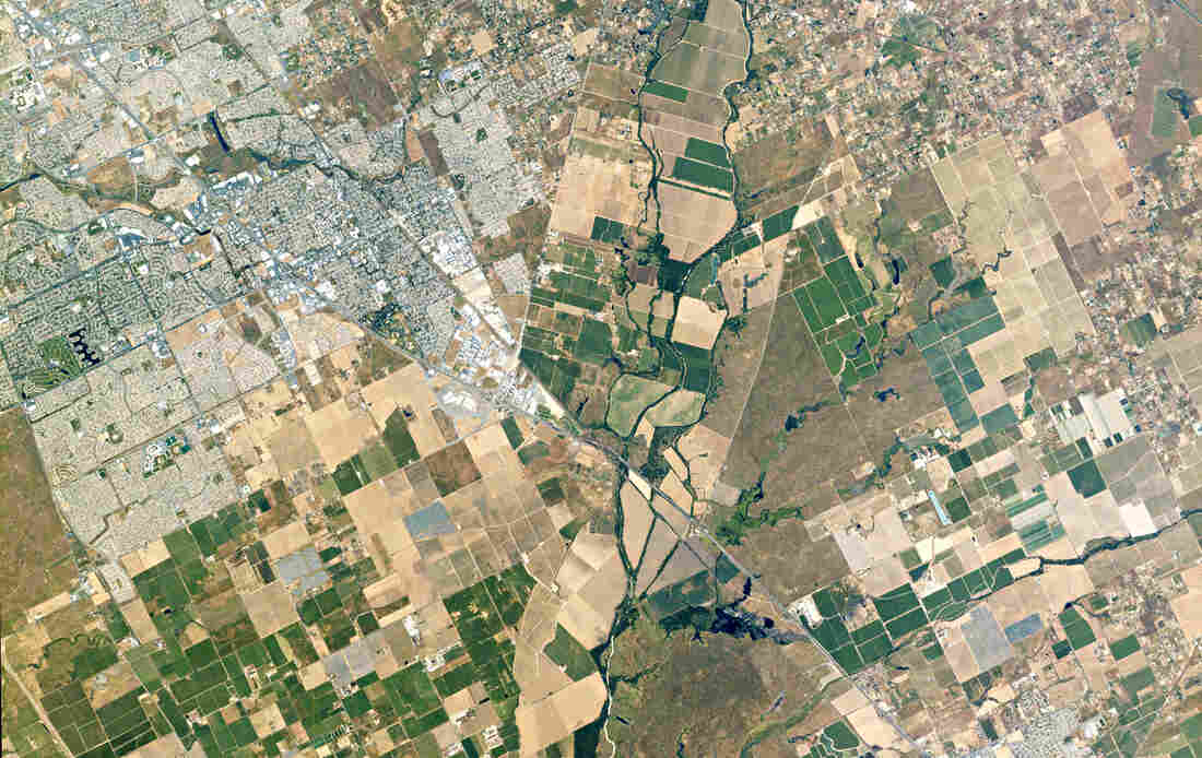 Elk Grove, Calif., is a suburb of Sacramento, about 15 miles from the city center. This 14-square mile view of the city was photographed on Apr. 23, 2015.