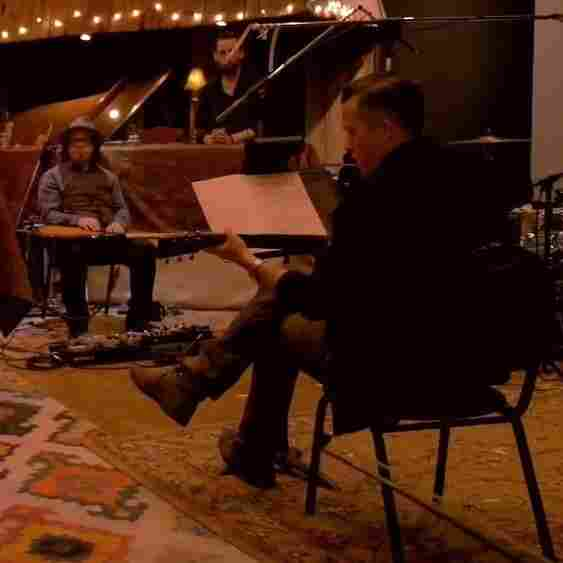 """Jason Isbell and the 400 Unit work with producer Dave Cobb in a scene from the making-of video for the song """"24 Frames."""""""