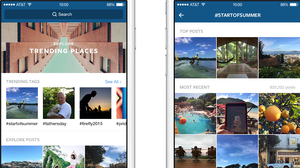 Instagram's latest update features curated photo collections and trending tags.