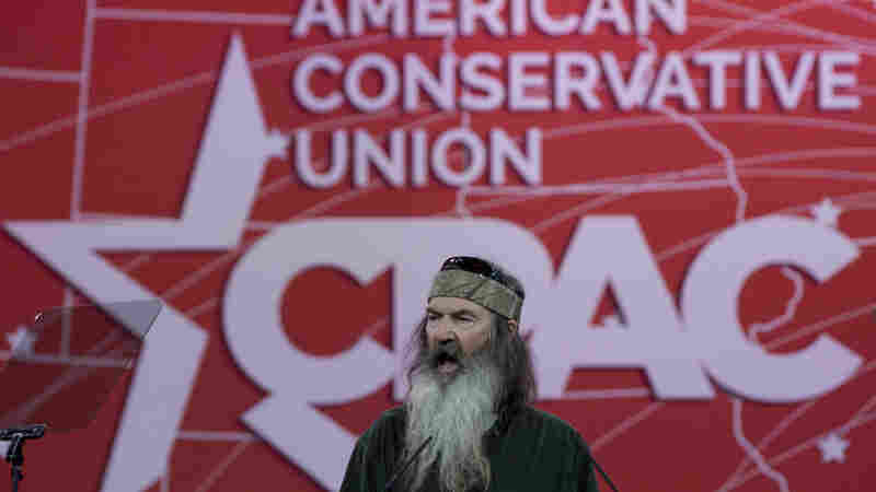 Phil Robertson of Duck Dynasty speaks during the Conservative Political Action Conference in National Harbor, Md., in February 2015.