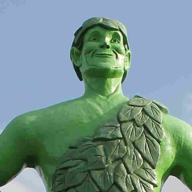 This 55-foot-tall statue of the Jolly Green Giant — the instantly recognizable icon for General Mills' Green Giant line of frozen vegetables — is in Blue Earth, Minn., about 100 miles away from the company's headquarters in Minneapolis.