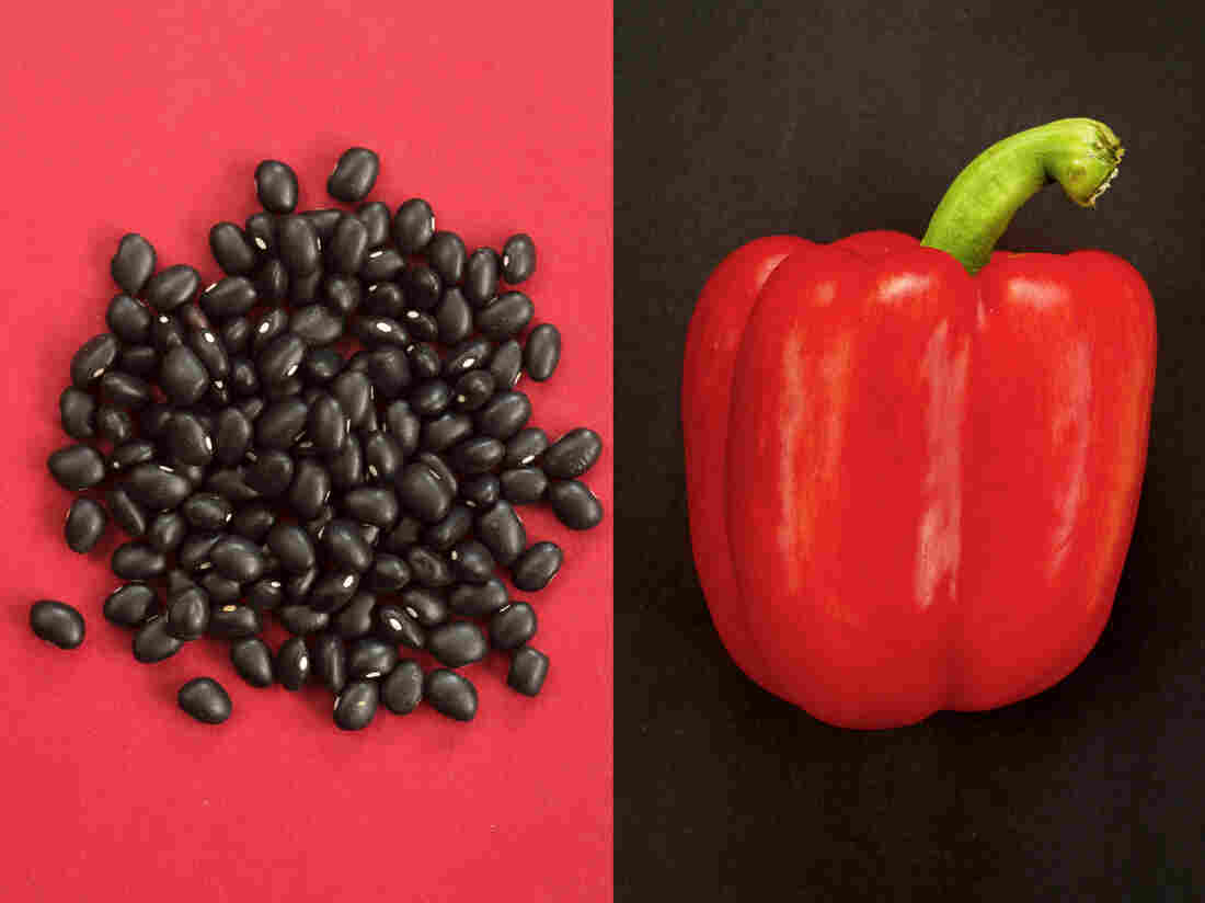 You'll get more plant-based iron from black beans if you eat them with something rich in vitamin C, like red pepper.