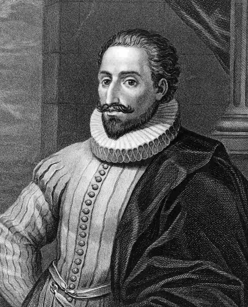Spanish novelist Miguel de Cervantes, circa 1600. He published The Adventures of the Ingenious Nobleman Don Quixote of La Mancha, in two volumes, in 1605 and 1615.
