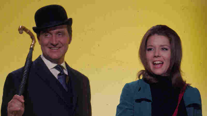 Patrick Macnee and Diana Rigg in their roles as John Steed and Emma Peel in the television series The Avengers in 1967. Macnee died today in Rancho Mirage, Calif. He was 93.