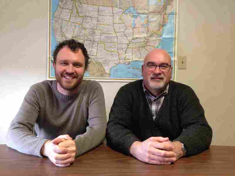 Ben Wideman (left) is the campus minister for University Mennonite Church in State College, Pa., and Marv Friesen is the church's pastor.