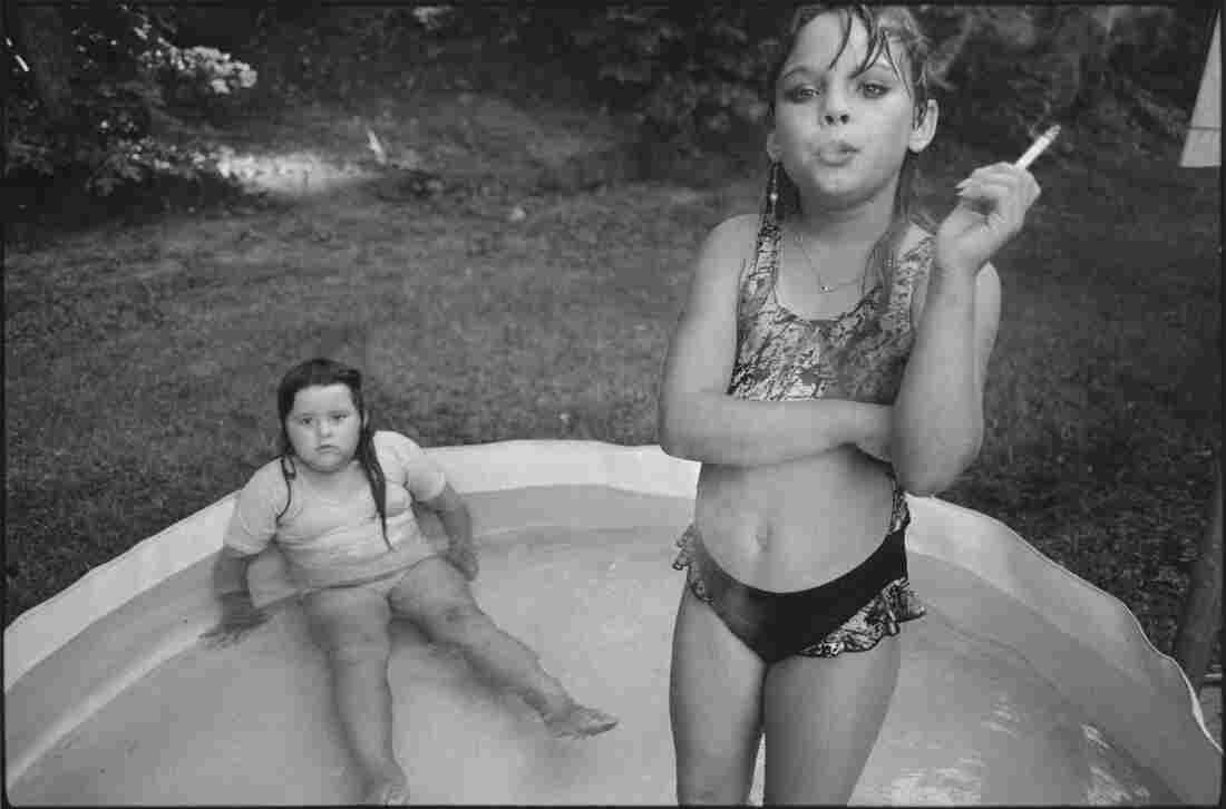 Amanda and her Cousin Amy: Mary Ellen Mark photographed Amanda Marie Ellison, 9 (right), and Amy Minton Velasquez, 8, in Valdese, N.C., in 1990.