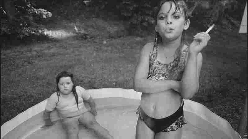 """Amanda and her Cousin Amy"": Mary Ellen Mark photographed Amanda Marie Ellison, 9 (right), and Amy Minton Velasquez, 8, in Valdese, N.C., in 1990."
