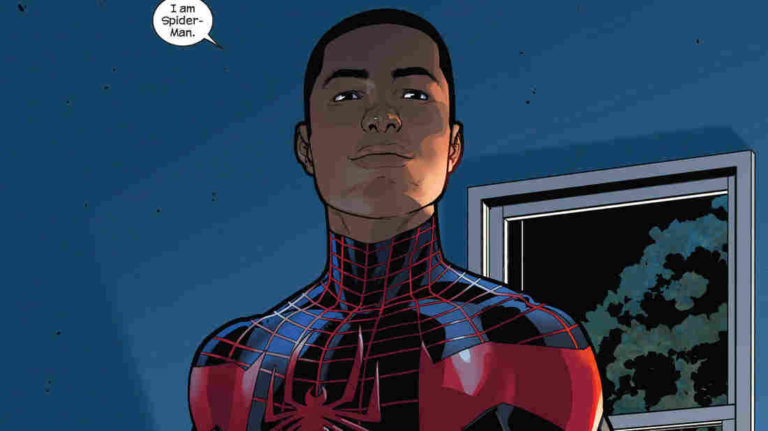 Marvel has put half-African-American, half-Latino teen Miles Morales in the Spider-Man suit.