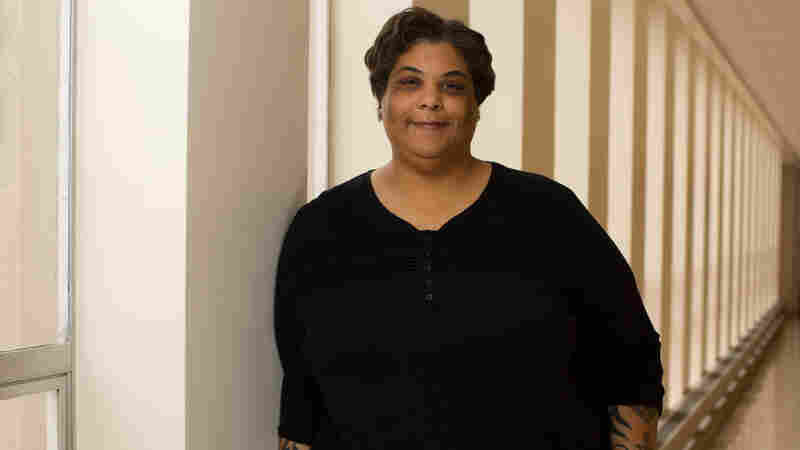 Author Roxane Gay in Coleman hall on the campus of Eastern Illinois University. Gay recently wrote an op-ed explaining why she will not forgive the suspect of the the Charleston shooting.