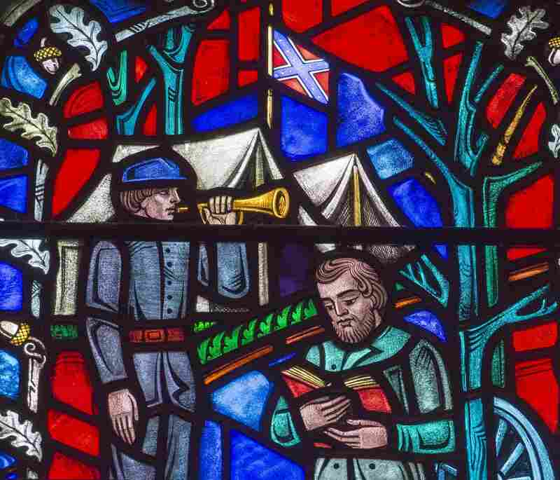 A stained glass window at Washington National Cathedral depicts Confederate Gen. Stonewall Jackson.
