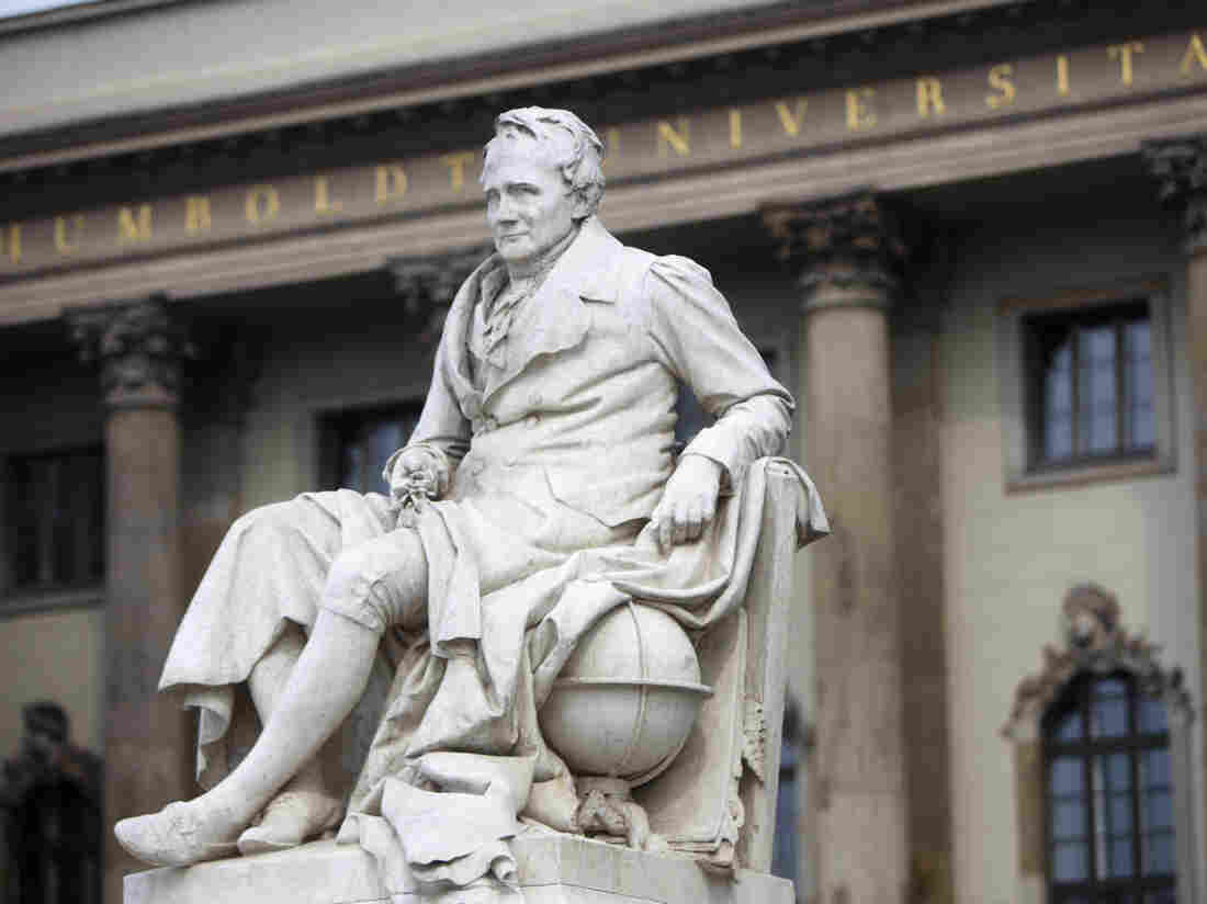 Berlin's Humboldt University — named for its founder, the 19th century philosopher and linguist Wilhelm von Humboldt, and his brother, naturalist Alexander von Humboldt, pictured here — is one of several German universities attracting U.S. students. More than 4,000 Americans are studying in German universities.