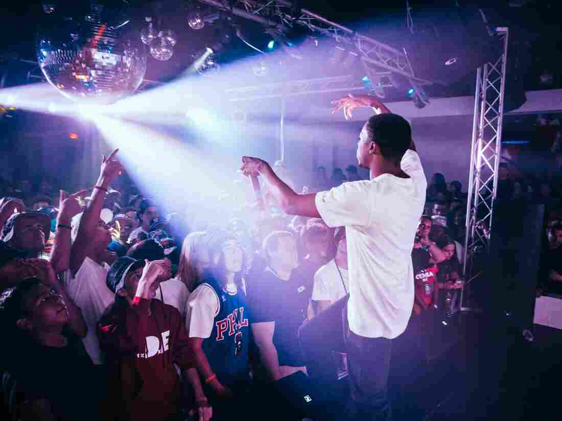 Vince Staples onstage.