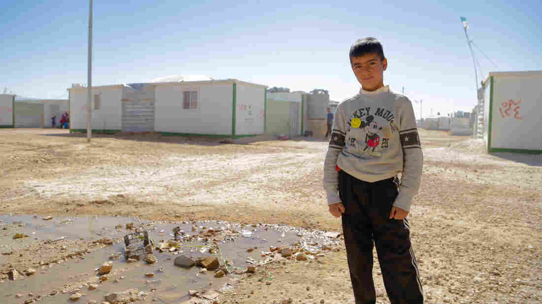 Raouf, 10, lives in Za'atari, the second largest refugee camp in the world.