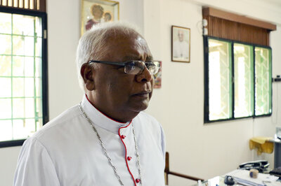 """The Catholic bishop of Mannar, Rayappu Joseph, has been an outspoken critic of military abuses by government forces during the long civil war. """"Where are they?"""" the bishop says of those who are missing. """"We want justice."""""""
