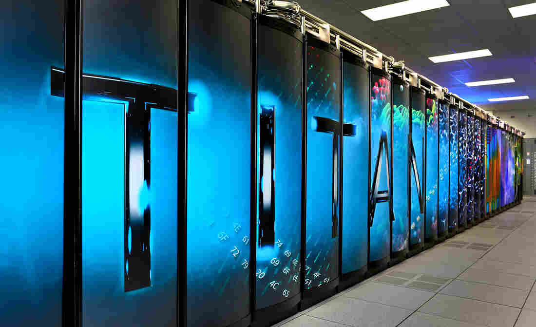 Titan supercomputer at the Oak Ridge National Laboratory.