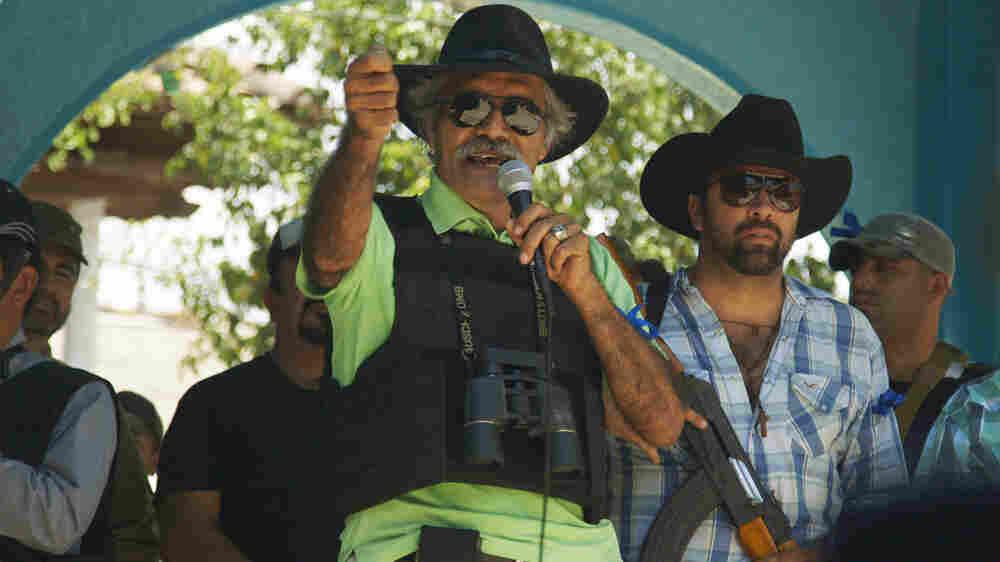 Jose Manuel Mireles Valverde, spokesman for the Autodefensas, a militia organized against the Knights Templar mob.