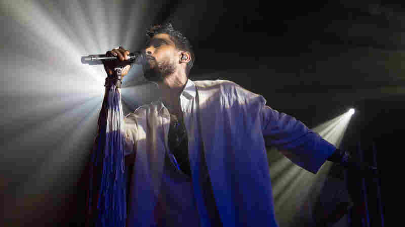 Miguel performs songs from Wildheart at Le Poisson Rouge in NYC.